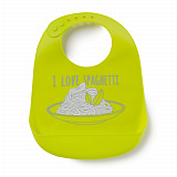 Нагрудник Happy Baby Silicone Bib, силиконовый, Lime